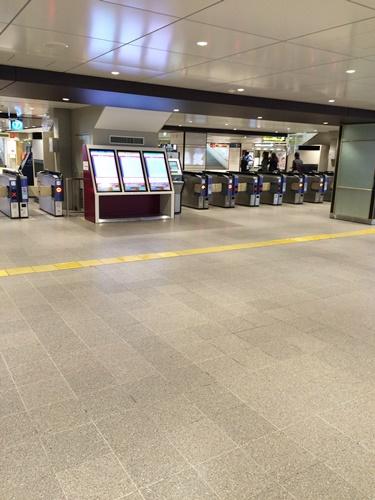 阪急電車改札